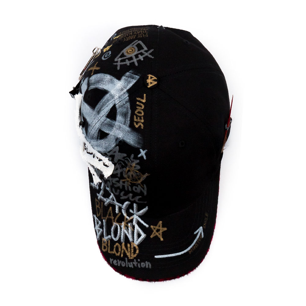 BBD Calf Leopard Phantom Graffiti Cap (Black/Red)