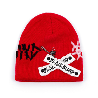 BBD Graffiti Logo Patch Beanie (Red)