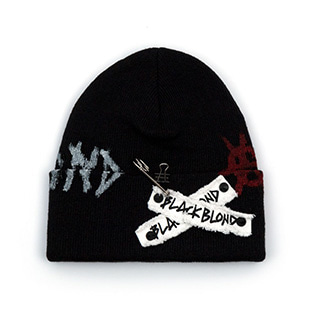 BBD Graffiti Logo Patch Beanie (Black)
