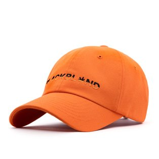 BBD Crazy Half Logo Cap (Orange)