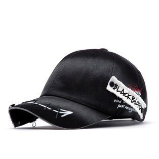 BBD Ghost Slogan Patch Logo Cap (Black)
