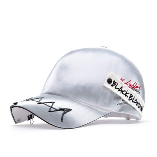 BBD Ghost Slogan Patch Logo Cap (White)